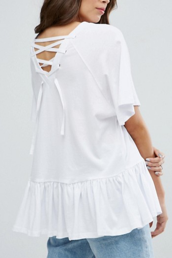 ASOS Oversized Swing Top with Cross Back