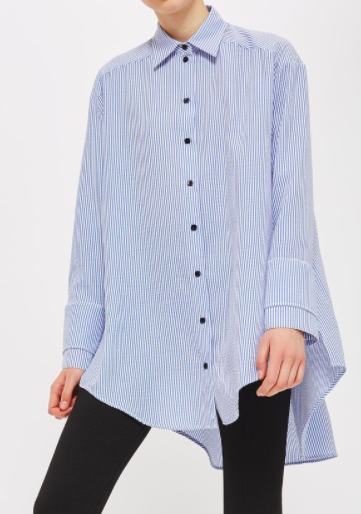 Topshop Stripe Deep Cuff Shirt