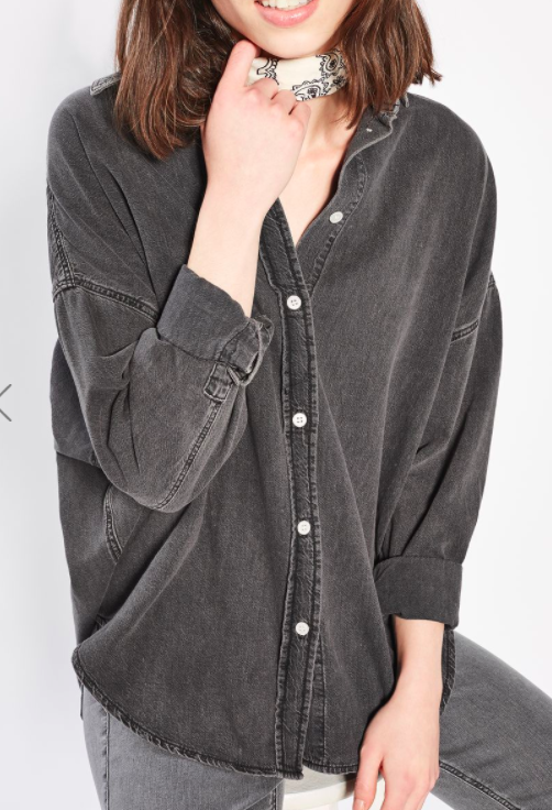 Topshop MOTO Denim Oversized Shirt