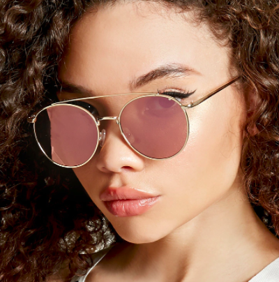 Forever 21 High-Polish Round Sunglasses