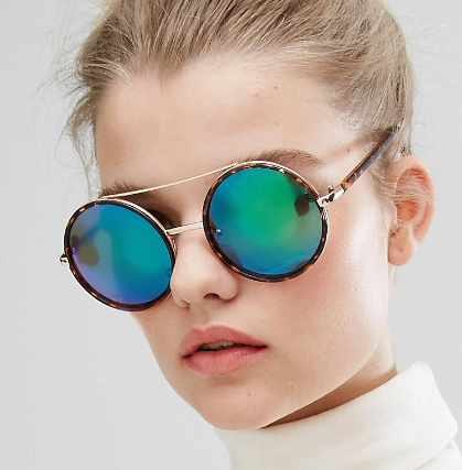 New Look Round Mirrored Sunglasses