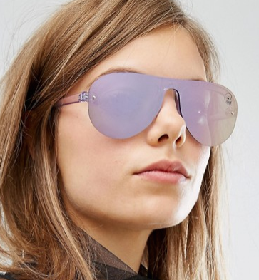 Cheap Monday Aviator in Lilac Mirror