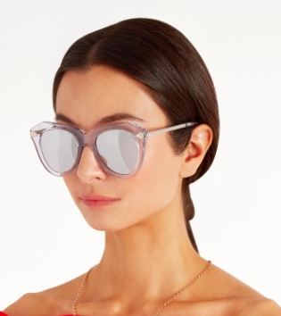 KAREN WALKER EYEWEAR  One Star cat-eye sunglasses