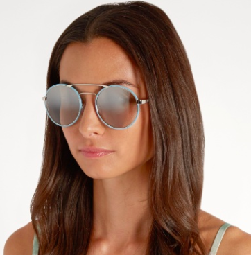 PRADA EYEWEAR  Round-frame mirrored sunglasses