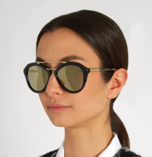 PRADA EYEWEAR  Aviator acetate sunglasses