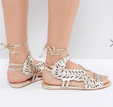 KG by Kurt Geiger Malta Metallic Flat Sandals