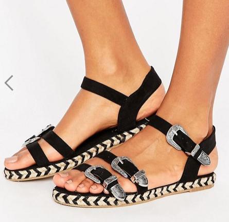 ASOS JONAH Western Sandal Espadrilles
