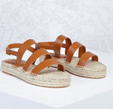 Forever 21 Strappy Espadrille Sandals