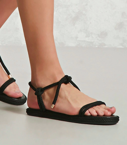 Forever 21 Braided-Rope Sandals