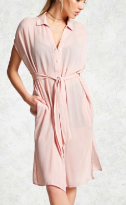 Forever 21 Draped Cover-Up Shirt Dress