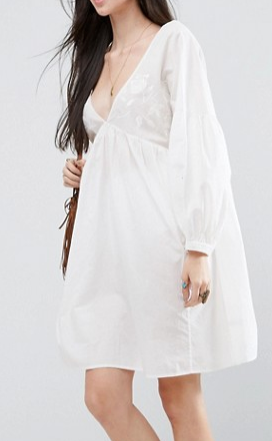 ASOS TALL Beach Cover Up With Embroidery