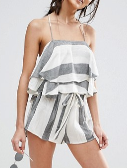 ASOS Natural Fibre Stripe Beach Co-ord Top