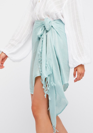 Free People Solid Crinkle Sarong