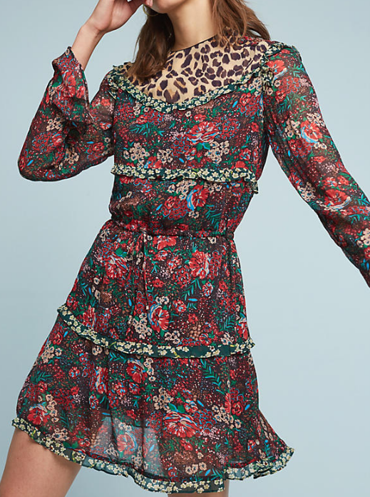 Scotch and Soda Leopard & Lillies Dress