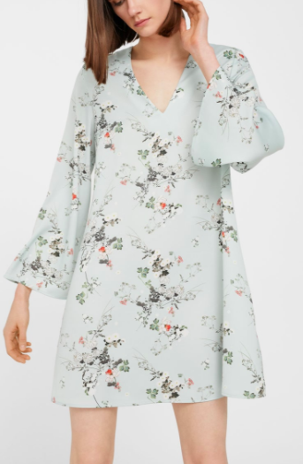 Mango Floral lightweight dress