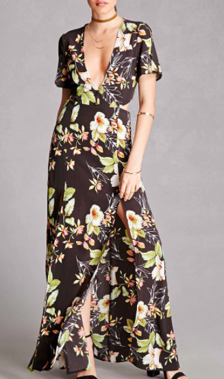 Forever 21 Nightwalker Floral Maxi Dress