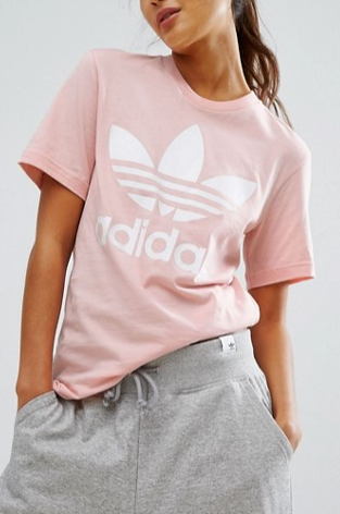 adidas Originals Pink Trefoil Boyfriend T-Shirt
