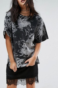 ASOS T-Shirt in Abstract Tie Dye