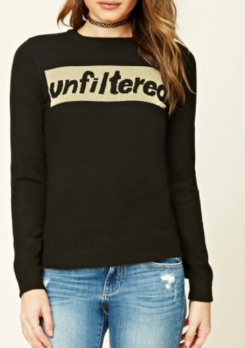 Forever 21 Unfiltered Graphic Sweater
