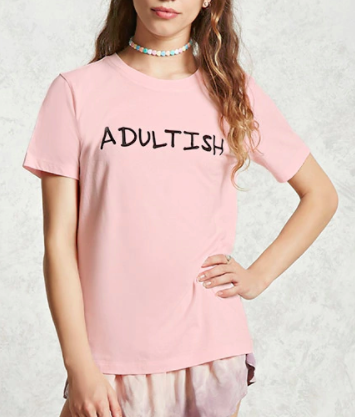 Forever 21 Adultish Graphic Tee