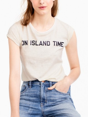 "jcrew ""On island time"" T-shirt"
