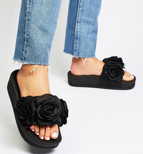 Jeffrey Campbell Eddie Rose Flatform Sandal