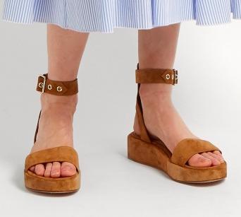 GIANVITO ROSSI Suede flatform sandals