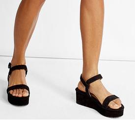 PAUL ANDREW  Suede Wedge Sandals