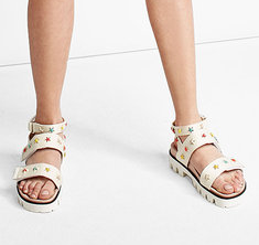 R.E.D. VALENTINO  Studded Canvas Sandals