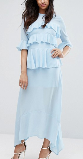 PrettyLittleThing Frill Detail Maxi Dress