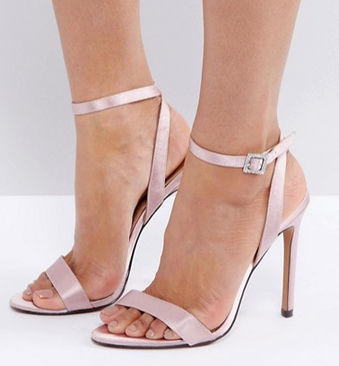 ASOS HOPEFUL Jewelled Buckle Heeled Sandals