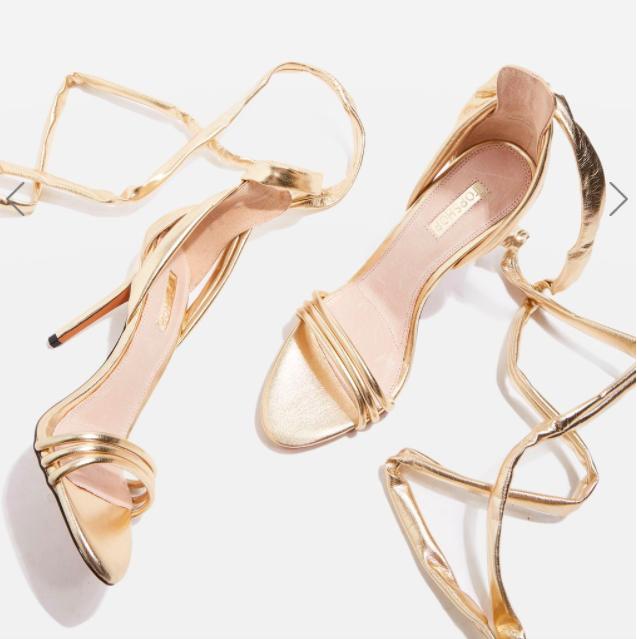 Topshop RAMONA Ankle Tie Sandals