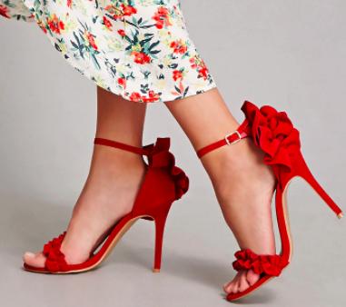 Shoe Republic Ruffle Strap Heel