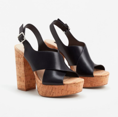 Mango Platform leather sandals