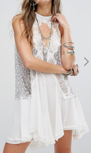 Free People Tell Tale Heart Sleevless Tunic Dress