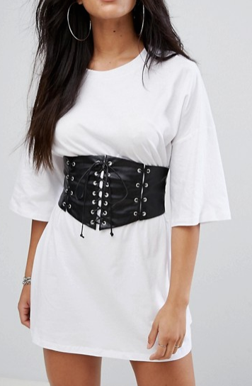 Glamorous T-Shirt Dress With Corset Waist