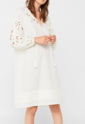 Mango Openwork detail dress
