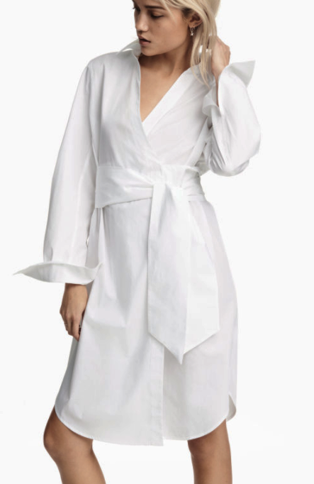 HM Cotton Wrap Dress