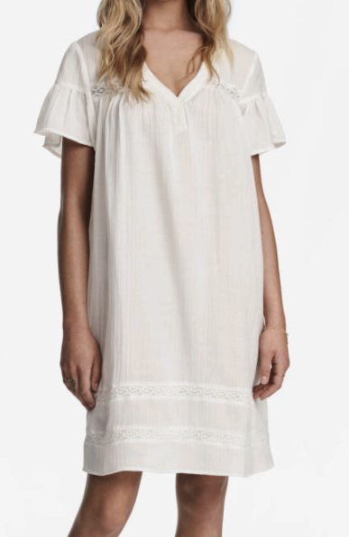 HM Knee-length White Dress