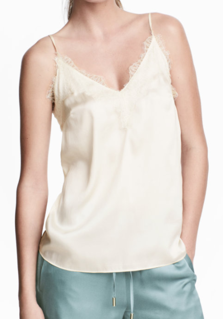 HM Satin and Lace Camisole Top