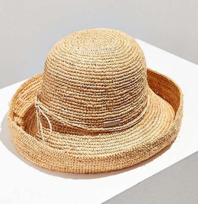 San Diego Hat Company Raffia Blossom Bucket Hat