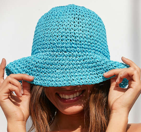 UO Straw Bucket Hat