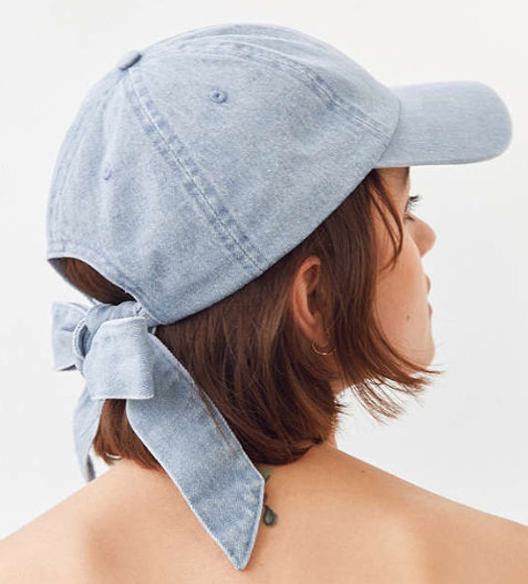 UO Denim Tie-Back Baseball Hat