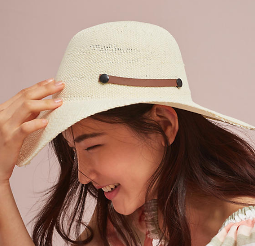 Anthropologie Monaco Packable Floppy Hat