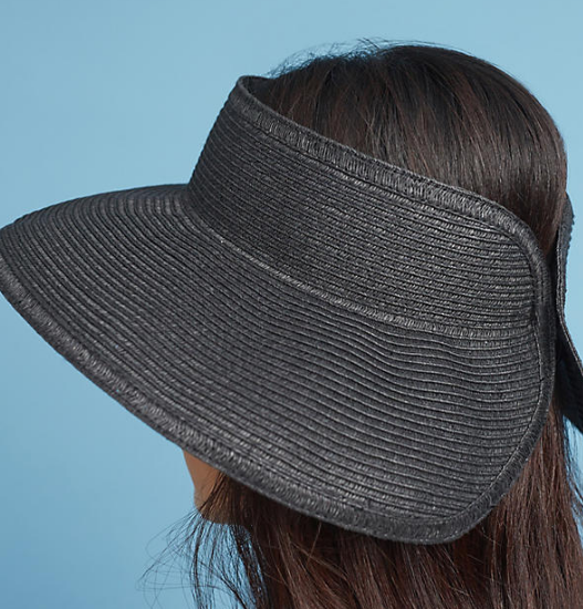 Anthropologie Black Sands Open-Top Sun Hat