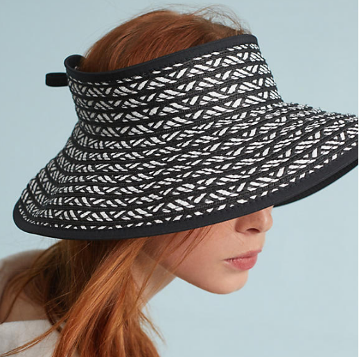 Anthropologie Chevron Visor