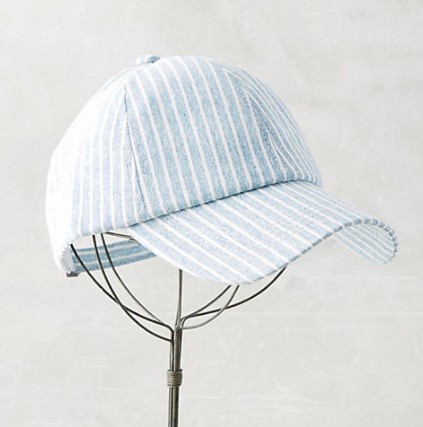 Anthropologie Striped Baseball Cap