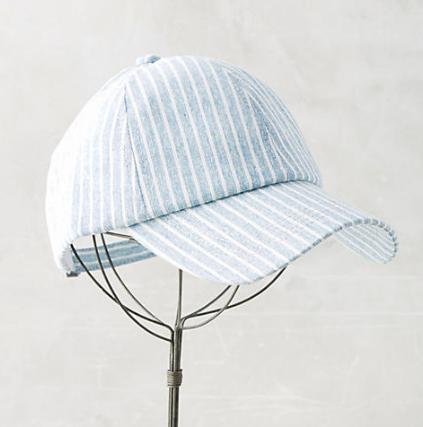 Anthropologie Striped Baseball Cap