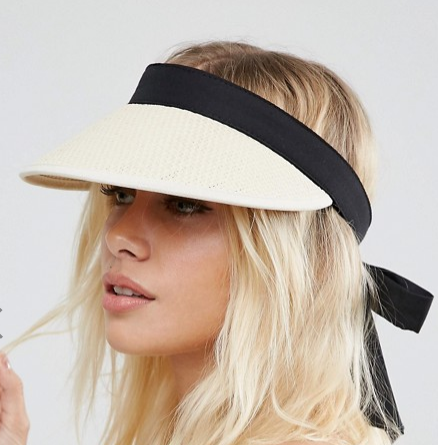ASOS Natural Straw VisorASOS Natural Straw Visor