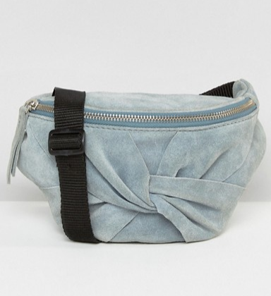 ASOS Suede Bow Fanny Pack